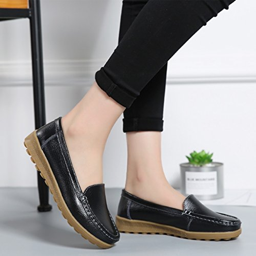 Negro Peas Mujer color Female Shoes Lounger 39 Para Zapatos Spring Tamaño Negro Hwf nZwqBBS6
