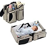 Portable Baby Diaper Changing Station Travel Bag Infant Nursery Crib Folding Bed