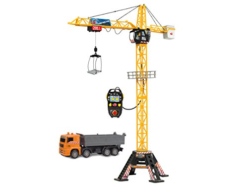 "Dickie Toys 48"" Mega Crane and Truck Vehicle and Playset"