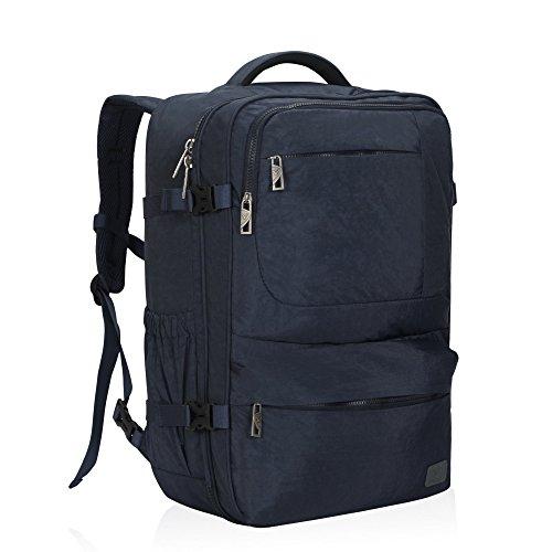 Hynes Eagle 44L Carry on Backpack Flight Approved Compression Travel Pack Cabin Bag, Dark Blue-2018