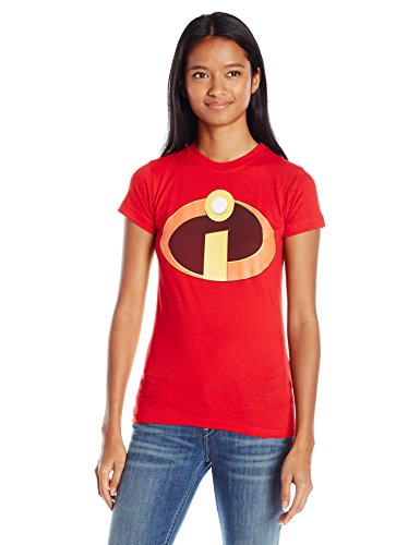 Disney Women's The Incredibles Logo Graphic T-Shirt, Red, M (The Incredibles Woman)