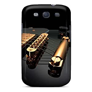 New Premium Flip Case Cover Black Guitar Skin Case For Galaxy S3