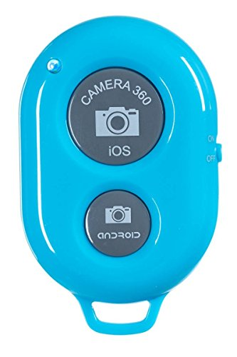 Wireless Camera Bluetooth Self-timer Remote Shutter Controller For IOS Android Smartphone Tablet Iphone 5s 5c 5 4s Ipad 3 2 mini iPod Sony xperia Samsung Galaxy S2 S3 S4 S5 Note 1 2 3 GALAXY Tab 2 note8 10.1+ Note 1/2/3+ Nexus 4 5 7 DC449 (Blue) (Htc One Mini Accesories compare prices)