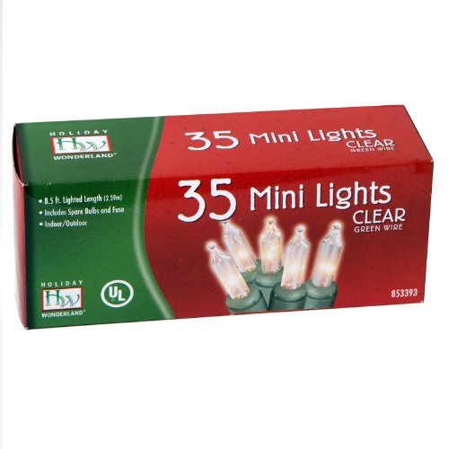 35 Count Clear Christmas Light Set product image