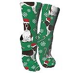 antspuent English Springer Spaniel Santa Christmas Compression Socks Athletic Cotton Crew Socks Multi Performance Outdoor Sports Hiking Casual Socks 4