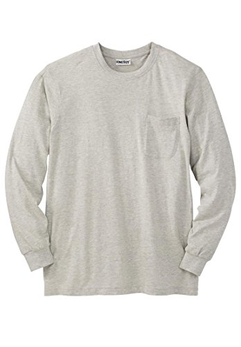 Kingsize Lightweight Long Sleeve Crewneck Pocket