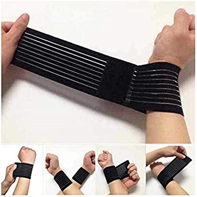 Sunonip 1Pc 40Cm Sports Men Women Fitness Weightlifting Wristband Bracer Wrist Bandage Training Joint Band Belt Gym Ankle Wrap Protector Estimated Price £8.29 -
