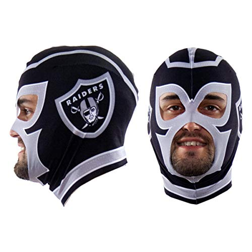 - Littlearth NFL Oakland Raiders Unisex Nflnfl Fan Mask, Black, One Size Fits Most