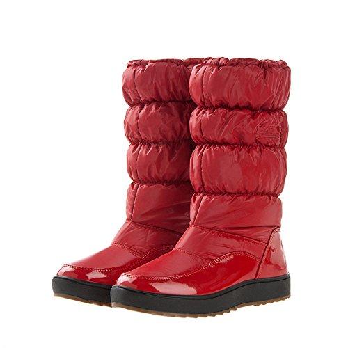 gefüttert Boots Schwarz Warm Rosa Rot Damen Wasserdichter Gaorui Schneestiefel Damen Mädchen Schlupfstiefel URU6TY8