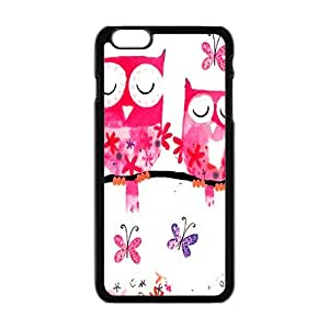 Pink lovely owls Cell Phone Case for Iphone 6 Plus