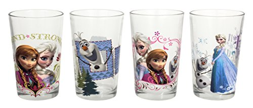 Disney Frozen Juice Glass, Multicolor, 8-Ounce, Set of 4