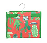 Southwest Cactus Themed Hanging Travel Organizer Foldable Case (Jewelry Roll)