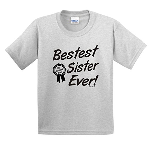 Bestest World's Best Sister Ever Gift Youth T-Shirt Large Ash