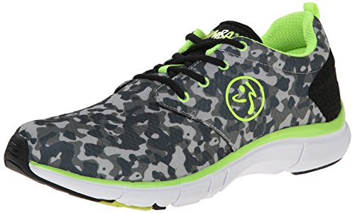 Zumba Womens Fly Fusion Athletic Dance Workout Sneakers With Compression Cushioning Black/Grey/Yellow kGiC4PeLQn