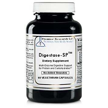 Digestase-SP TM, 240 Caps / 4 Bottles, Vegan - Multi-Enzyme Premier Quantum Research Labs for Digestive Support for Protein & Carbs by Quantum / Premier Research