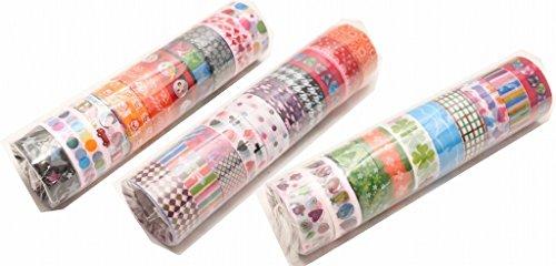 大量 ラッピング かわいい ビニール テープ 小物 シール デコ 携帯 スマホ プレゼント 台 セット 文房具 マスキング テーピング (b 30個)