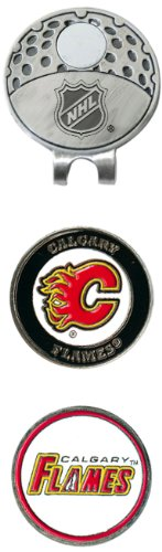 NHL Calgary Flames Cap Clip With 2 Golf Ball - Stores Calgary Hat