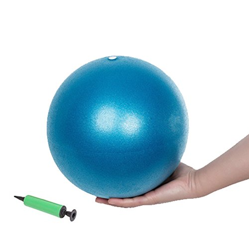 Ab Small Wall - myfitway Small Exercise Ball, Mini Fitness Ball for Barre Pilates Balance Gym Yoga Balance Stability Bender Physica (Blue)