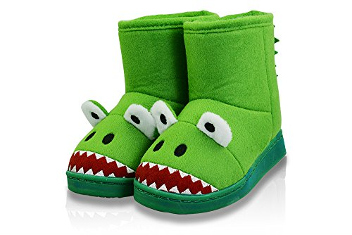 Price comparison product image LA PLAGE Kids Winter Warm Cute Cartoon Unicorn Fluffy House Slippers Boots Size Toddler 6 US Monster