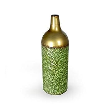 Amazonde Artehome 4aa1172l Dekorative Vase Metall Grün Gold