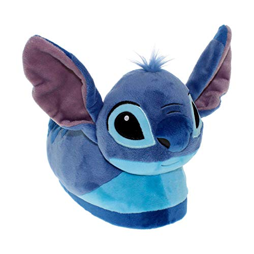 7021-1 - Disney Lilo & Stitch - Stitch Slippers - Small - Happy Feet Mens and Womens Slippers