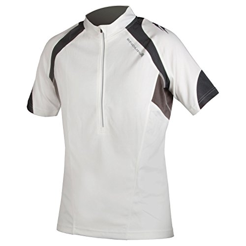 ENDURA Hummvee II Short Sleeve Cycling Jersey White, Large