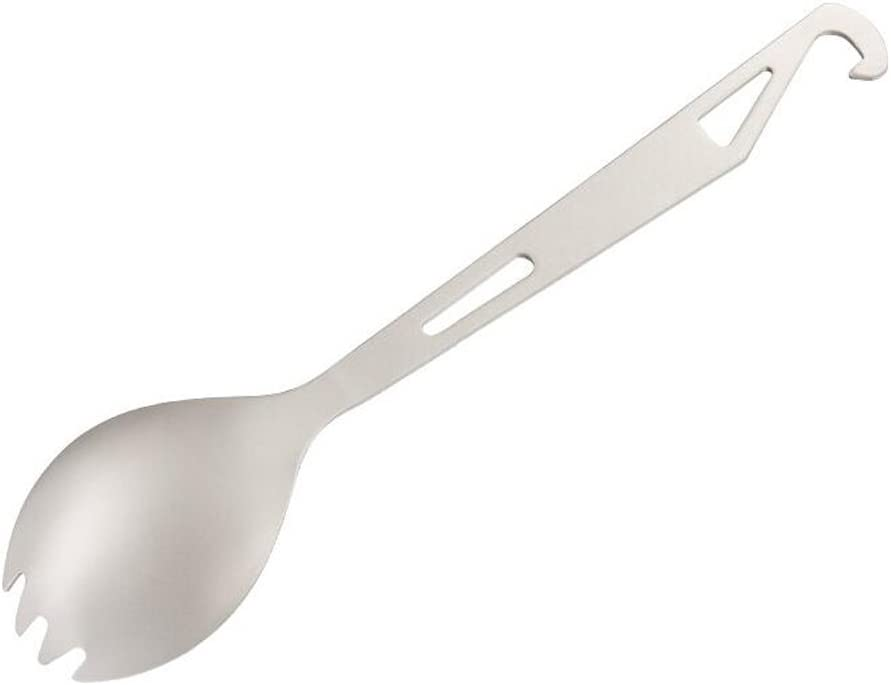 Titanium Spork with cover Opener Portable camping Spoon Picnic Fork