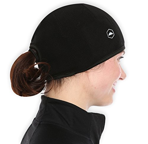 Helmet Liner Skull Cap Beanie with Ear Covers. Ultimate Thermal Retention and Performance Moisture Wicking. Fits Under - Running Cap Womens