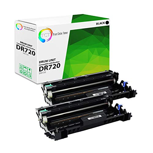 TCT Premium Compatible Drum Unit Replacement for Brother DR-720 DR720 Black Works with Brother HL-5440D 6180DWT, MFC-8710DW 8910DW 8950DWT, DCP-8110DN 8155DN 8250DN Printers (30,000 Pages) - 2 Pack