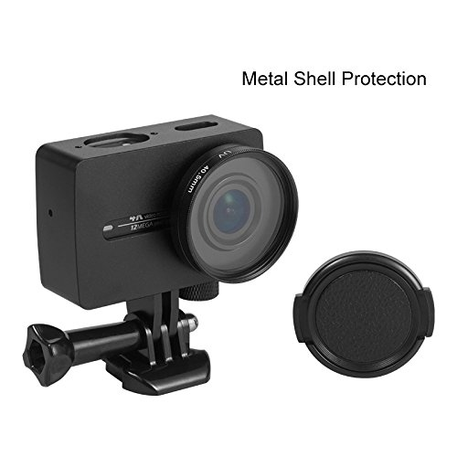 Rhodesy Aluminum Alloy Case for Xiaomi Yi 4K/4K+/Yi Lite, Protective Cage Housing Frame Case for Xiaomi Yi 4K/4K+ Action Camera 2