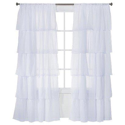 VTS Xhilaration Ruffle Curtain Panel