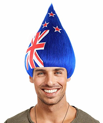 Halloween Party Online Australia National Flag Troll Wig, Adult (Mens German Costume Australia)