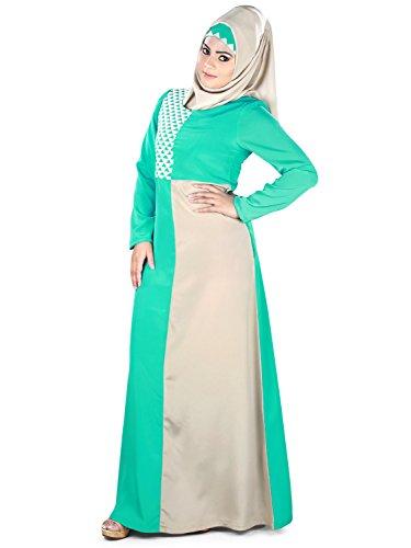 Geometrische Abaya Doppelfarbe MyBatua gestickte Naseemah Frauen aUPYUqW8