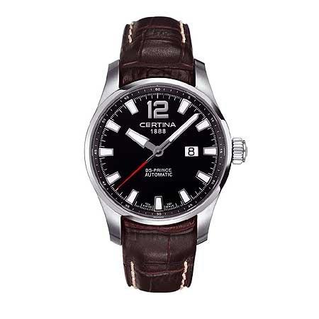 Certina DS Prince - Reloj analógico de caballero automático con correa de piel marrón: Amazon.es: Relojes