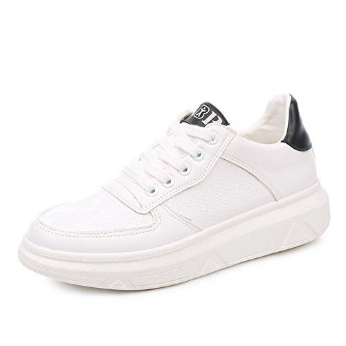Zapatos, zapatos de suela gruesa plataforma de corte de deporte bajo/Verano estudiantes respirable encaje zapatos casual B