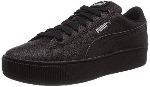 Negro Para Platform Vikky Black Niñas puma Zapatillas Black Puma Jr Glitz puma ZHxpwq