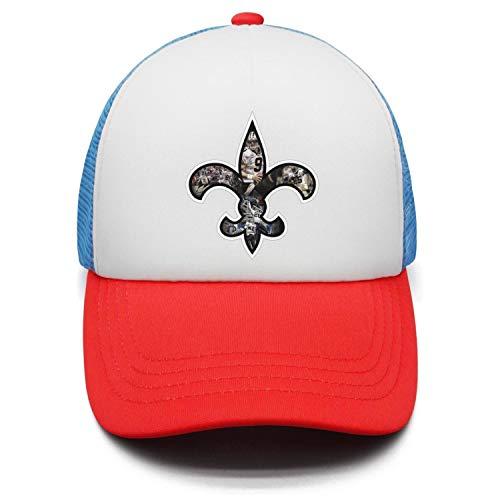 Kids Team Logo Brees Sun Visors Cap Adjustable Sports Hat for Boys or Girls