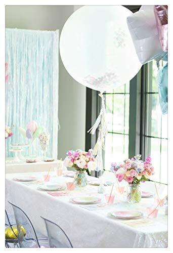 SoarDream Rectangle Iridescent White Sequin Tablecloth 60