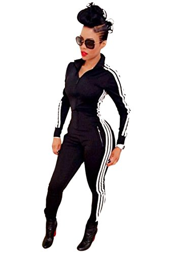 Bodycon4U Women Lycra Spandex Zentai Long Sleeve Unitard Bodysuit Jumpsuit