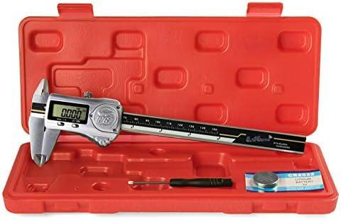 Digital Electronic Caliper Vernier Micrometer Measuring Inch Metric Fraction Red