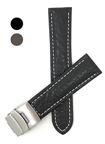 Distress Brown Leather Watch Strap Band Brushed Steel Buckle 20mm 22mm 24mm 26mm To Have A Long Historical Standing Wristwatch Bands Watches, Parts & Accessories
