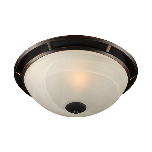PLC Lighting 14884 ORB 1 Ceiling Light Compass Collection -