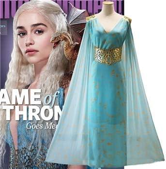 WSJDE Juego de Tronos Daenerys Targaryen Disfraz Azul Claro ...