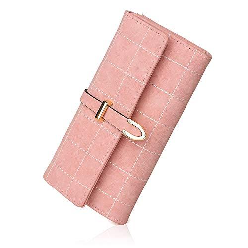 Di Zmsdt Donna Vacchetta Portafoglio Pink Nero Pelle colore In Da OUUXAwCq