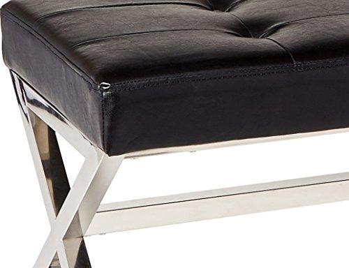 Homelegance 4605BK Metal Base Bench, Black by Homelegance (Image #4)