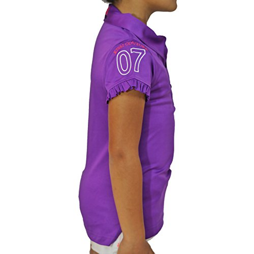 Kissi Couture Little Girls Golf Polo Shirt with Princess Of Golf Bling XS Purple by Kissi Couture (Image #3)