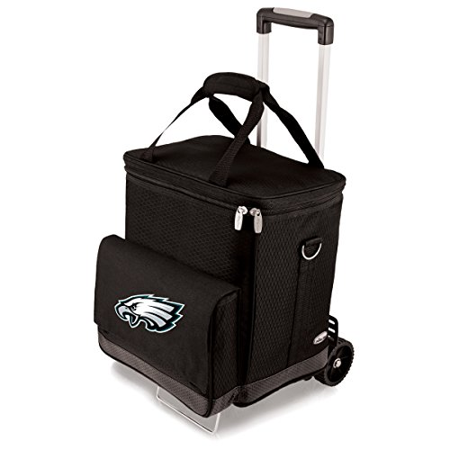 NFL Philadelphia Eagles Insulated Cellar Six Bottle Wine Tote with Trolley