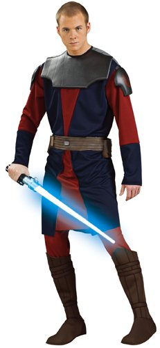 Adult Deluxe Anakin Skywalker Clone Wars Costumes (Rubie's Costume Co. Men's Star Clone Wars Deluxe Anakin Skywalker Costume, Multicolor, X-Large)