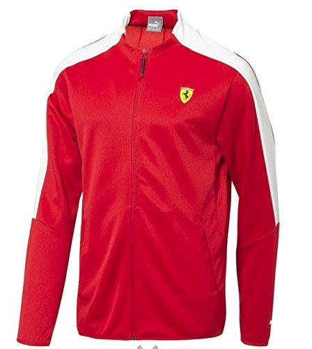 PUMA Men's Standard Scuderia Ferrari T7 Track Jacket, Rosso Corsa, S