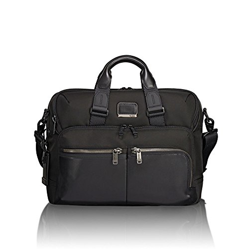 TUMI - Alpha Bravo Patterson Brief Laptop Briefcase - 15 Inch Computer Bag for Men and Women - Black